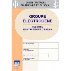 Groupe électrogène - Registre d'entretien et d'essais