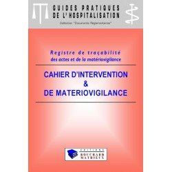 Cahier d'intervention et de matériovigilance (modèle 4 : 12 patients par jour)