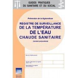 Température de l'eau chaude sanitaire - Registre de surveillance (version polyvalente)