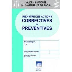 Registre des actions correctives et préventives