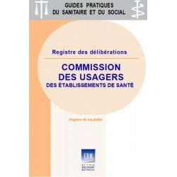 Commission des usagers : registre des délibérations