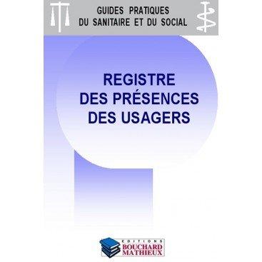 Registre des présences des usagers - version mensuelle grande capacité (160 usagers/mois sur 1 an)